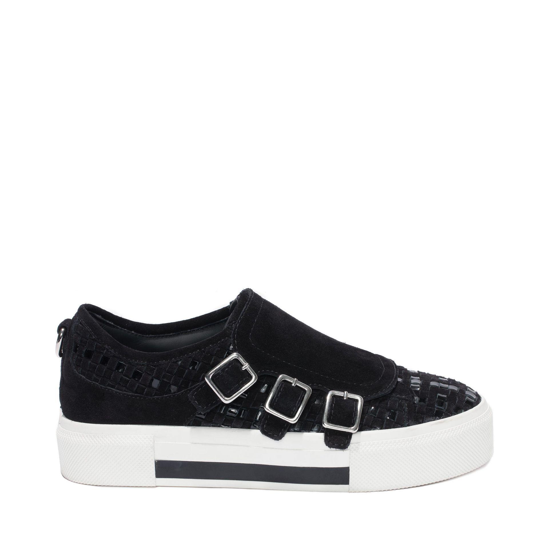 alexander mcqueen 3 buckle sneaker in black lyst. Black Bedroom Furniture Sets. Home Design Ideas