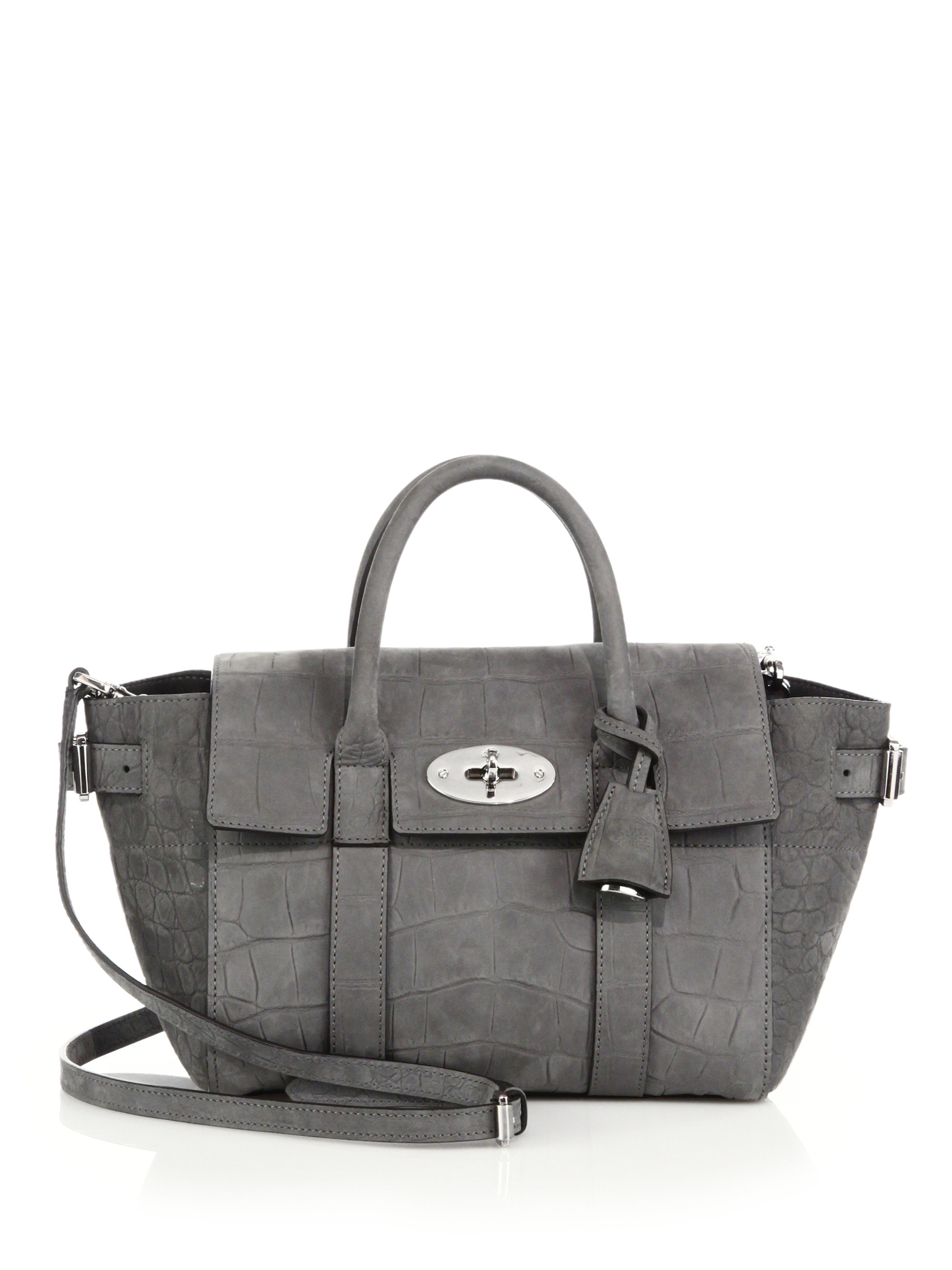 00d89d9ea6 ... germany lyst mulberry mini bayswater buckle tote in gray 1e5ab 68156