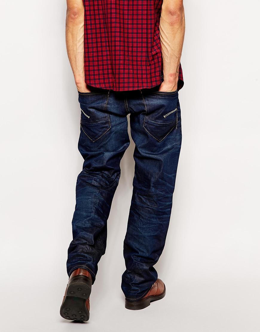 g star raw g star jeans new radar low loose dark aged in. Black Bedroom Furniture Sets. Home Design Ideas