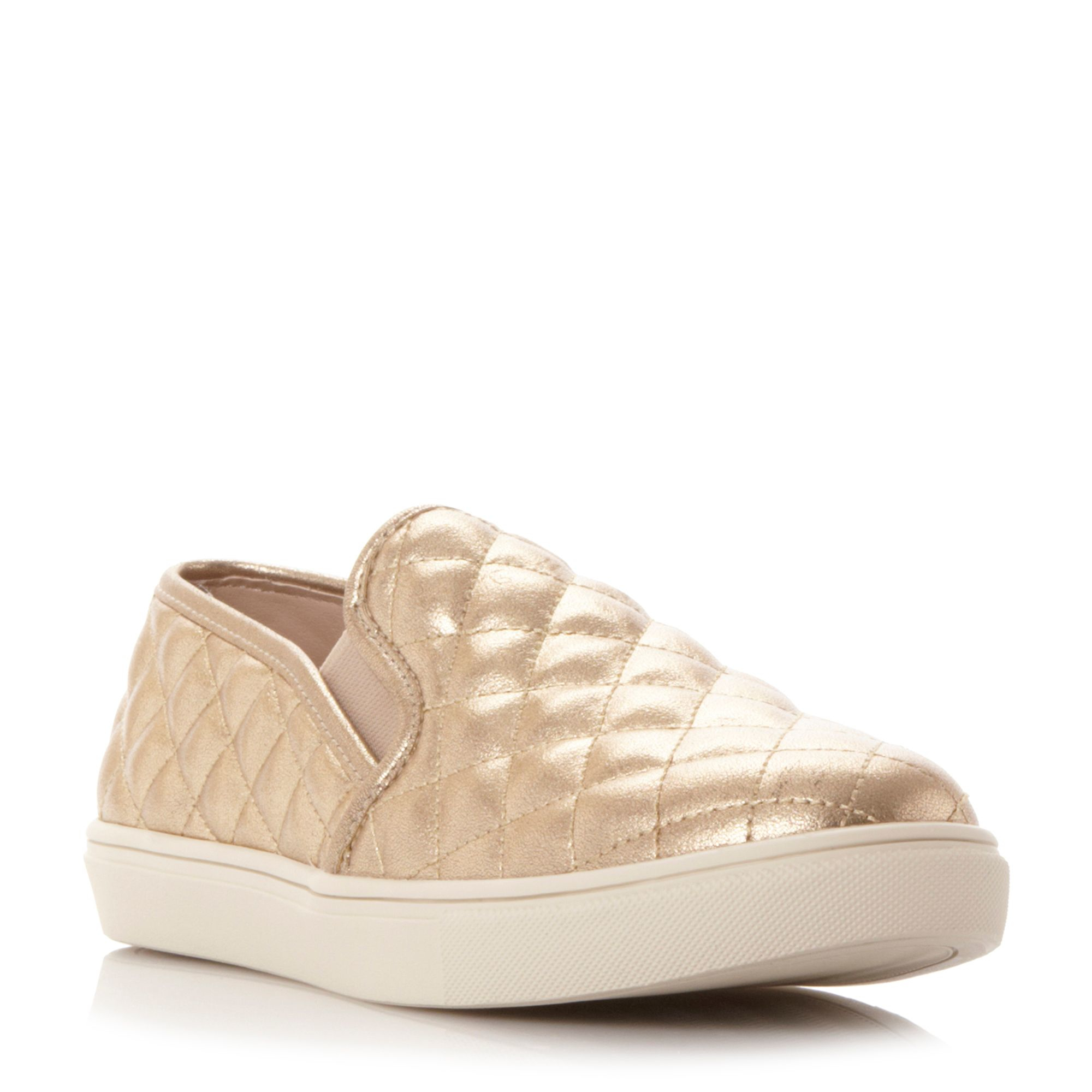 steve madden ecentricq sm quilted slip on shoes in gold lyst