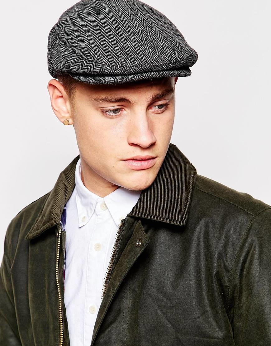136fa8c8 ... shop lyst brixton hooligan flat cap in gray for men 0982d fb1d6