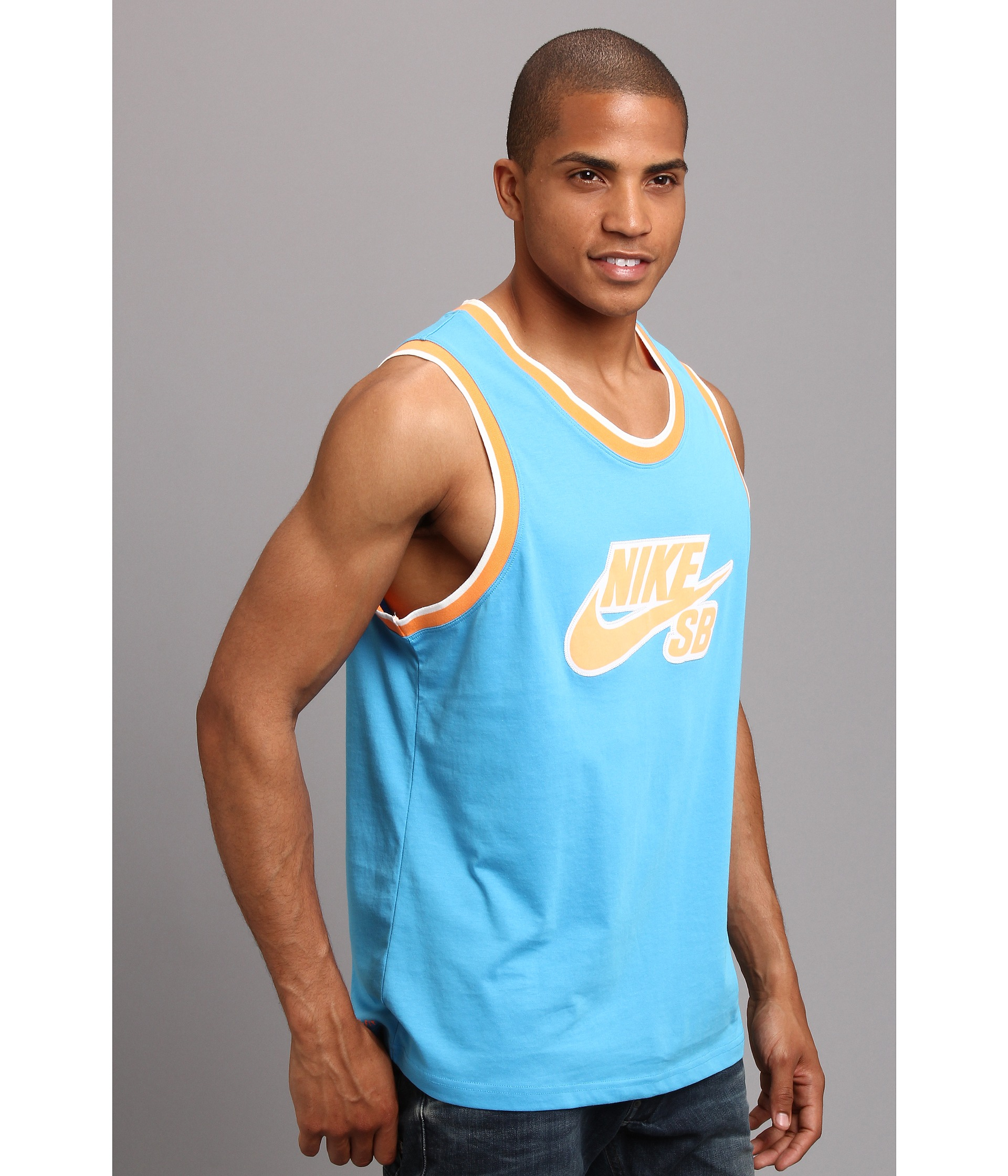 d4f9ece5152b3 Lyst - Nike Sb Varsity Drifit Tank Top in Blue for Men