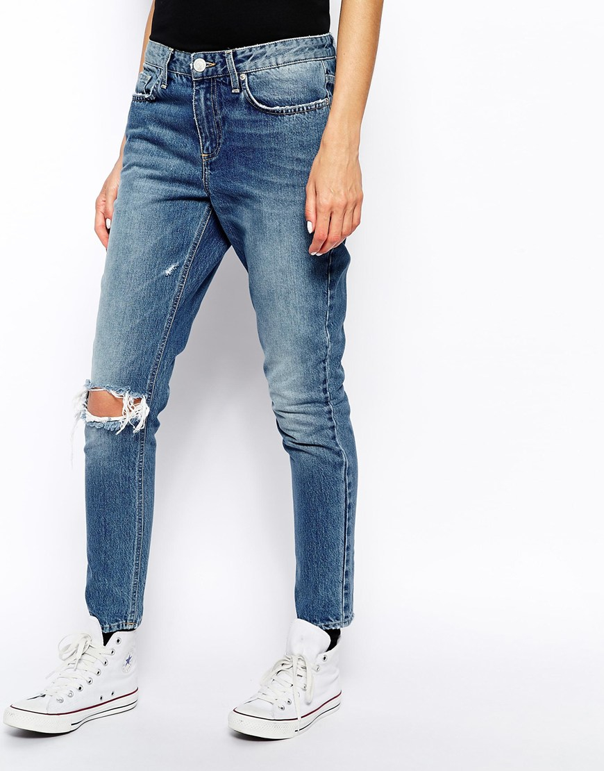 Won Hundred Jesse Jeans With Ripped Knee in Blue (Denim ...