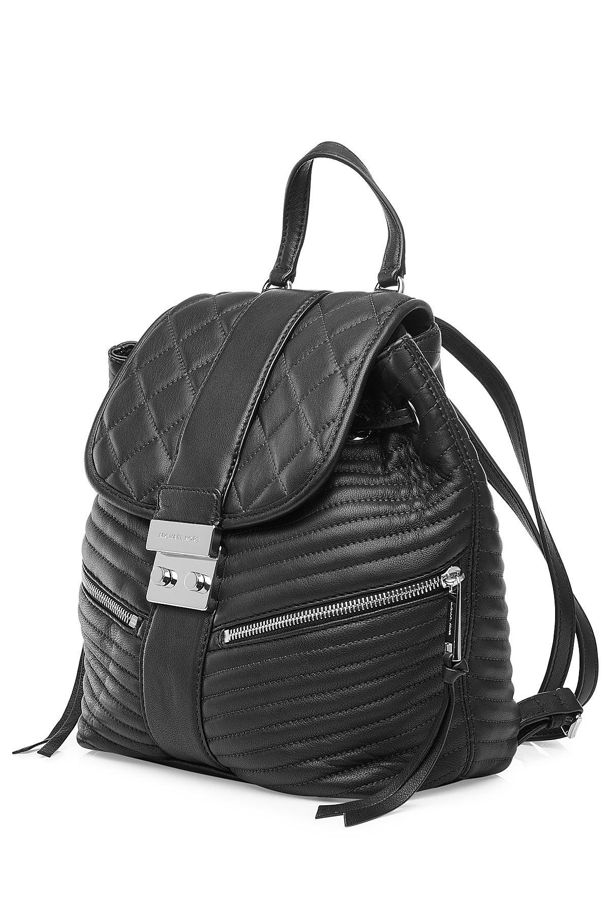 michael michael kors elisa small leather backpack black in black lyst. Black Bedroom Furniture Sets. Home Design Ideas