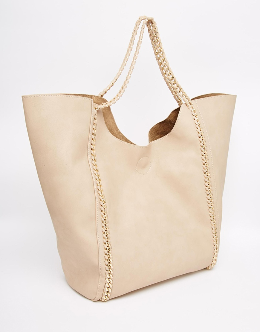 13db32e99d6ab Yoki Fashion Shopper Bag in Natural - Lyst