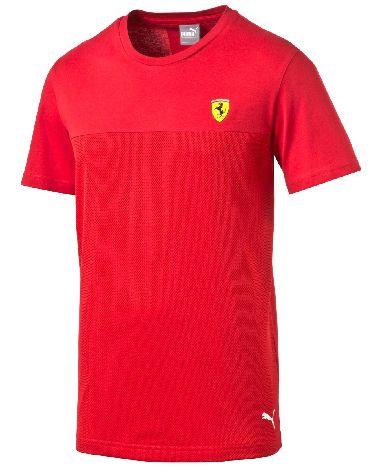 puma mens ferrari tshirt in red for men save 43 lyst
