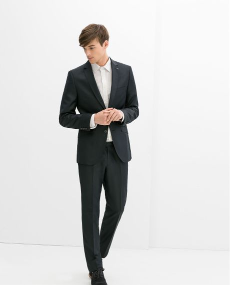 Zara Chinzatto Suit Trousers In Blue For Men | Lyst