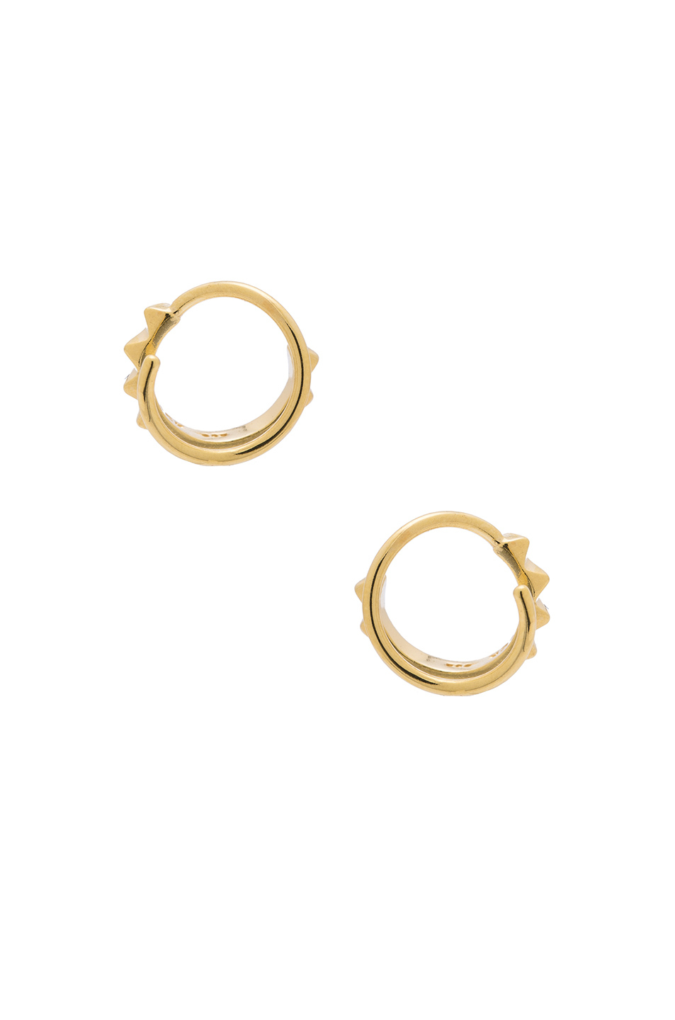 Maria Black 14 Karat Klaxon Twirl Earrings in Metallics Po1DPndPt0