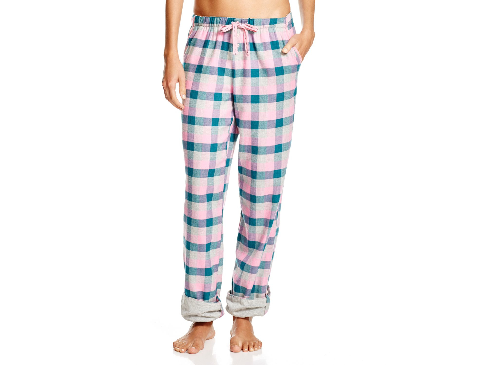 d0c080b6f7bd Lyst - Jane & Bleecker New York Country Escape Flannel Pajama Pants