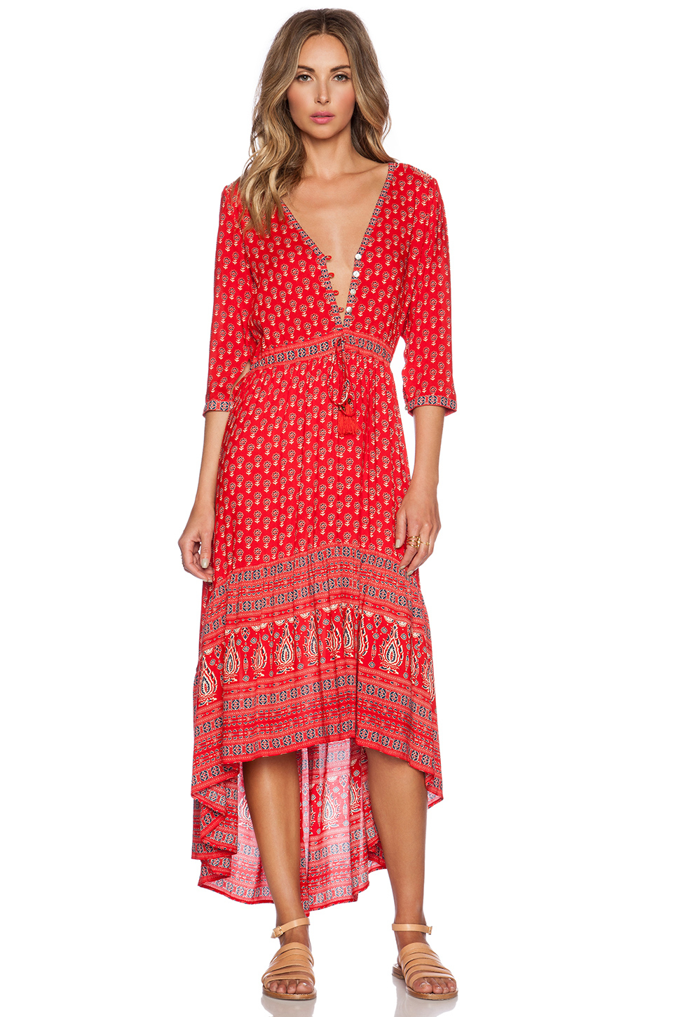 Spell &amp- the gypsy collective Gypsiana Maxi Dress in Red - Lyst