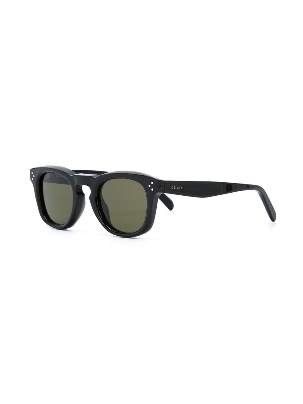d1a0b60d874ec Céline  bevel Square  Sunglasses in Black - Lyst