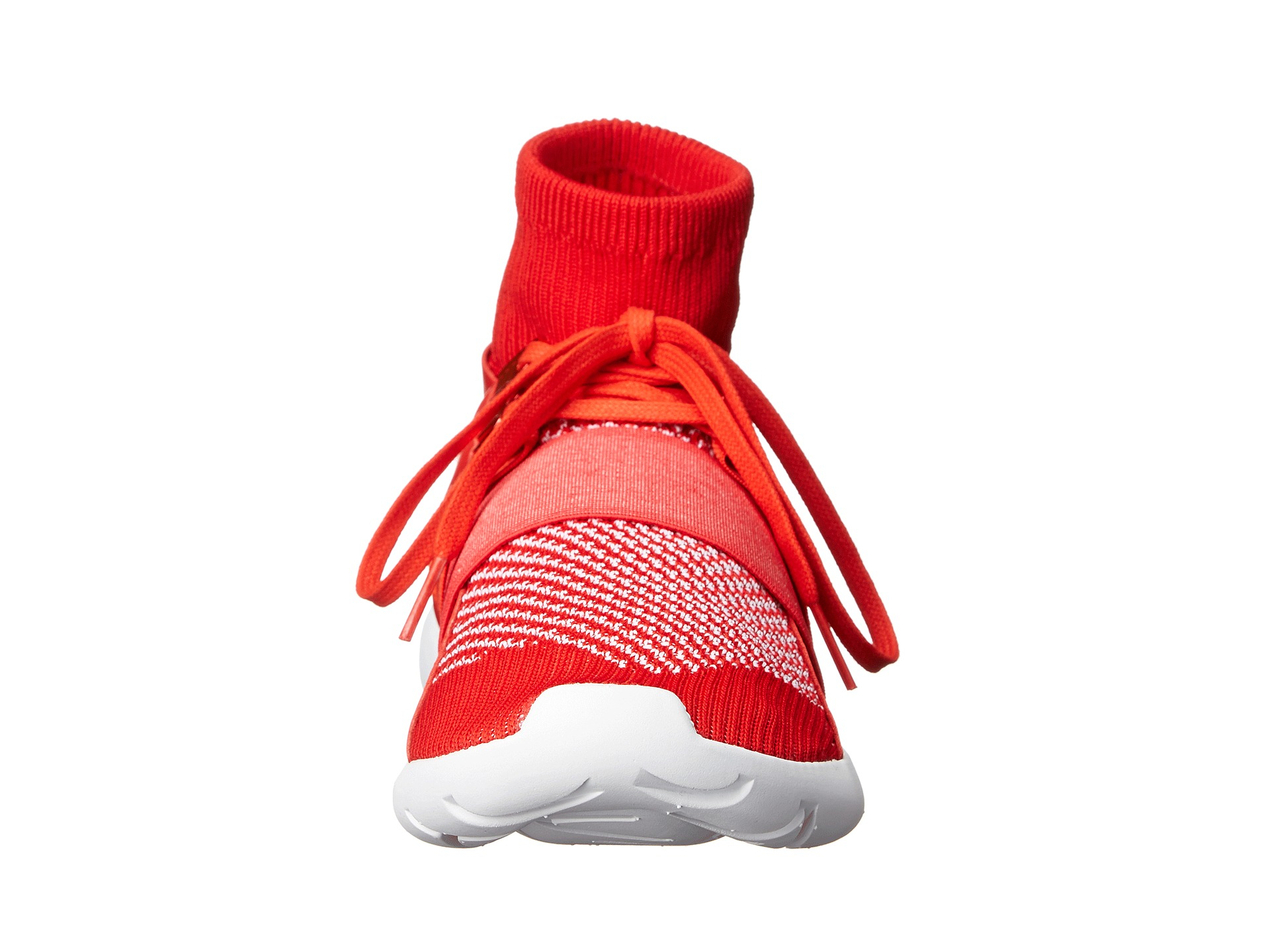 Y-3 Qasa Elle Lace Sneakers in Red