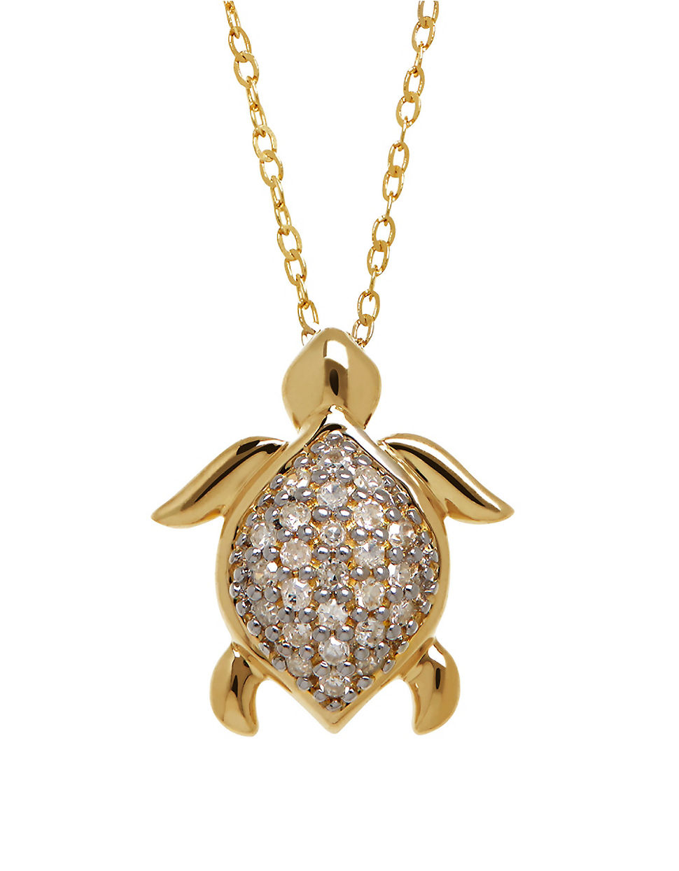 lord and 14k yellow gold turtle pendant