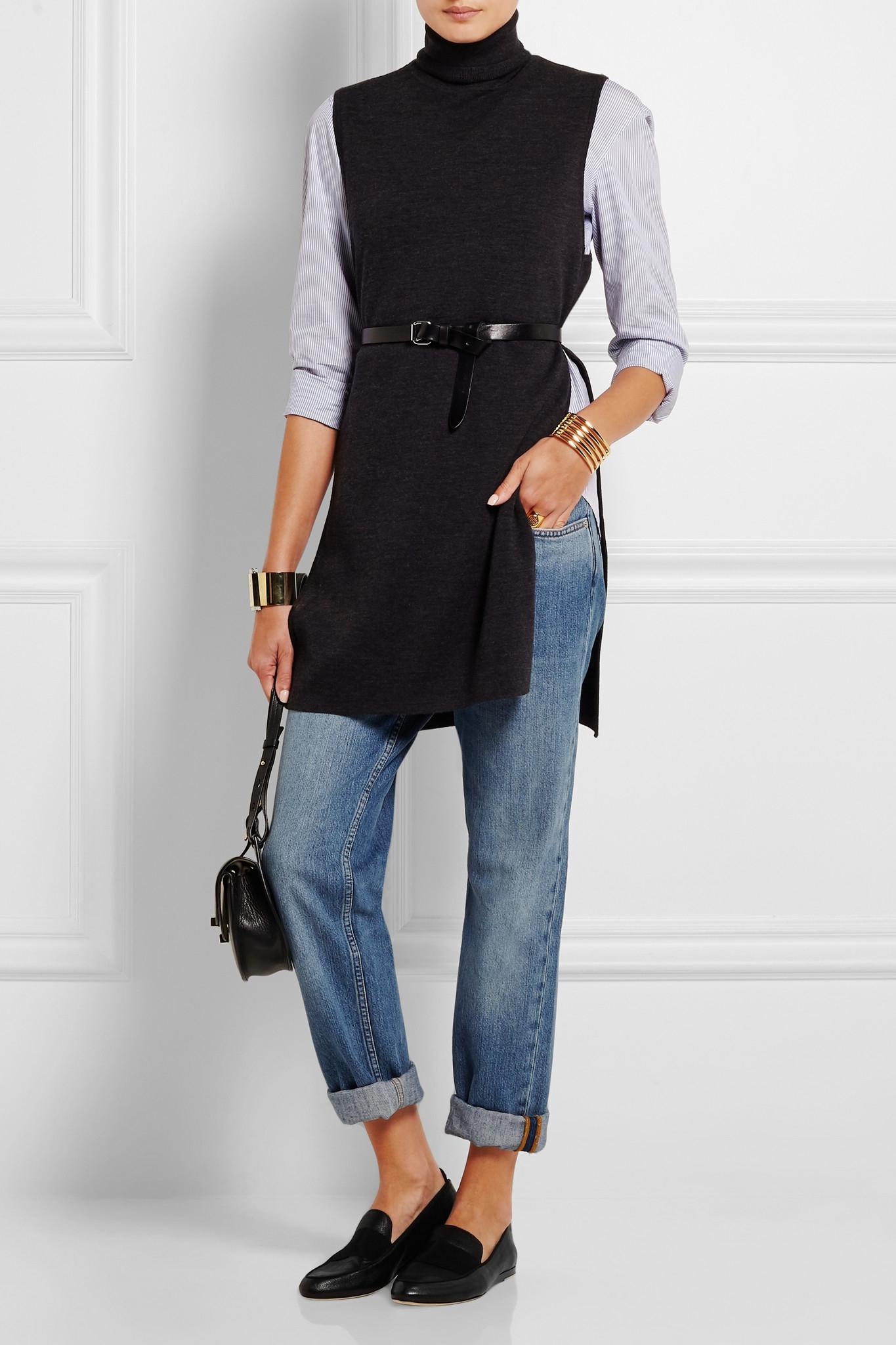 fbeab3f90f Rag & Bone Sia Grosgrain-trimmed Textured-leather Loafers in Black ...