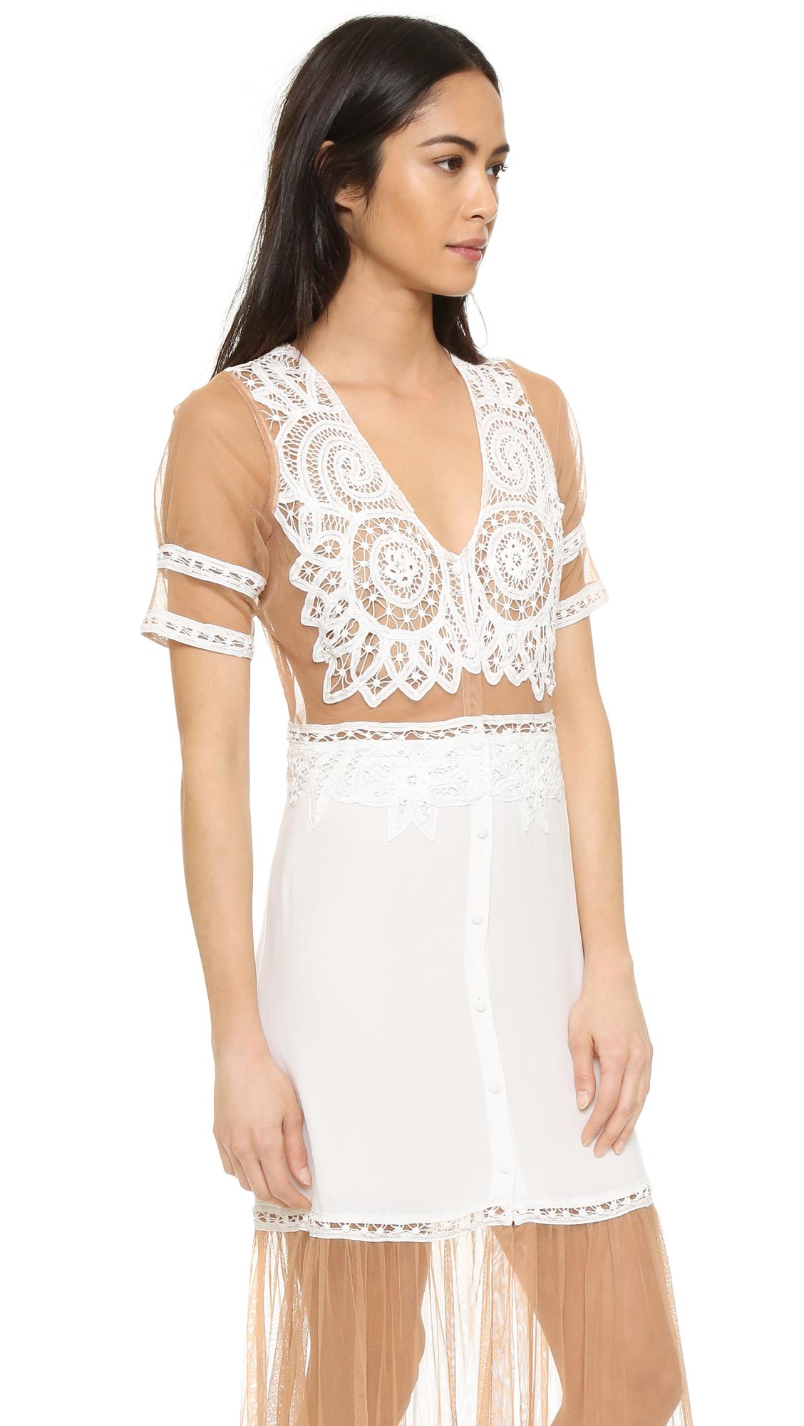 Lyst For Love Lemons Carmine Maxi Dress In White