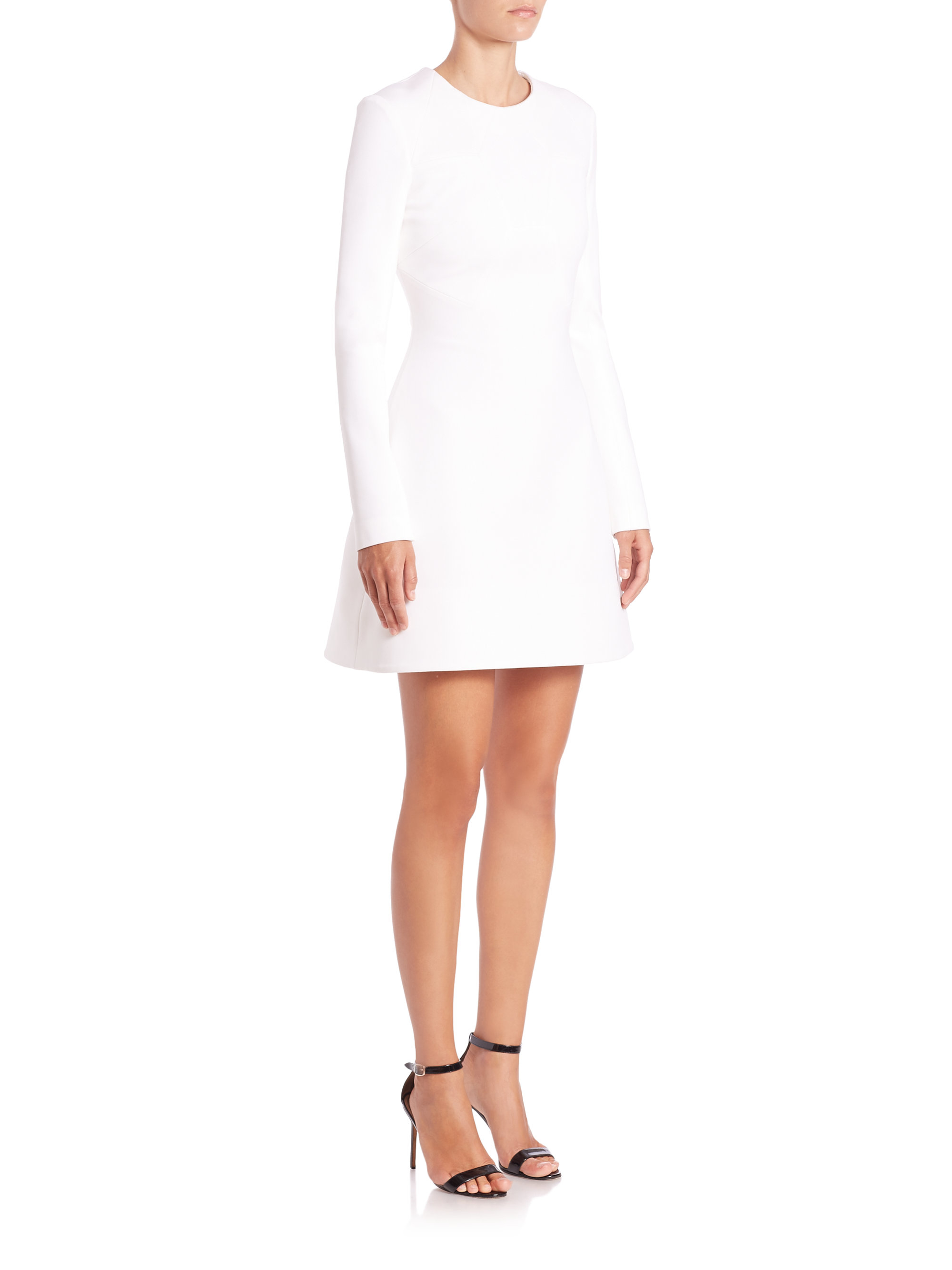 1ff743f4c7e Cushnie et Ochs Powerstretch Ponte Long-sleeve Dress in White - Lyst