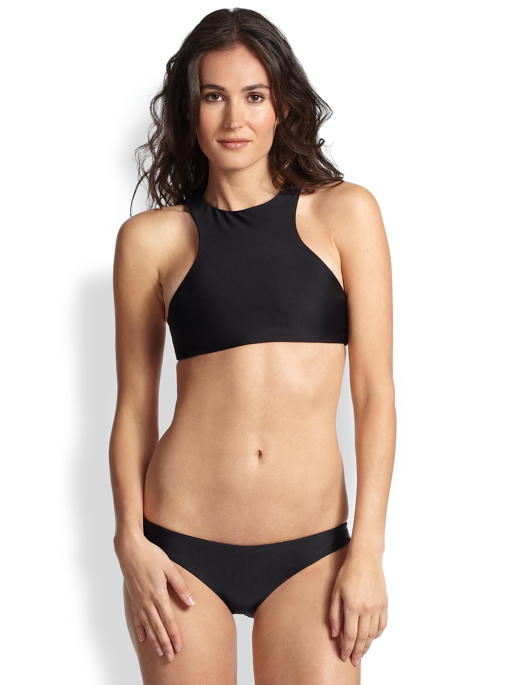 This Donatella Sport Women's Neoprene Bikini Top with Chunky Zipper features a stylish and comfortable design. It is made with a s pandex material for a stretchy fit. The women's bikini top is available in various sizes. read more. See at Walmart. CONNEXITY.