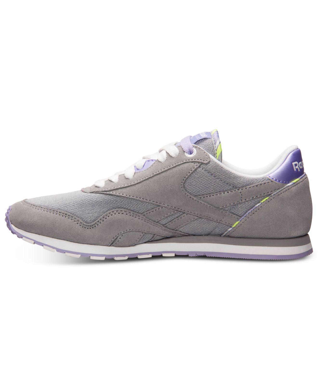 7af6342a0d0 Lyst - Reebok Women s Classic Nylon Slim Jacquard Casual Sneakers ...