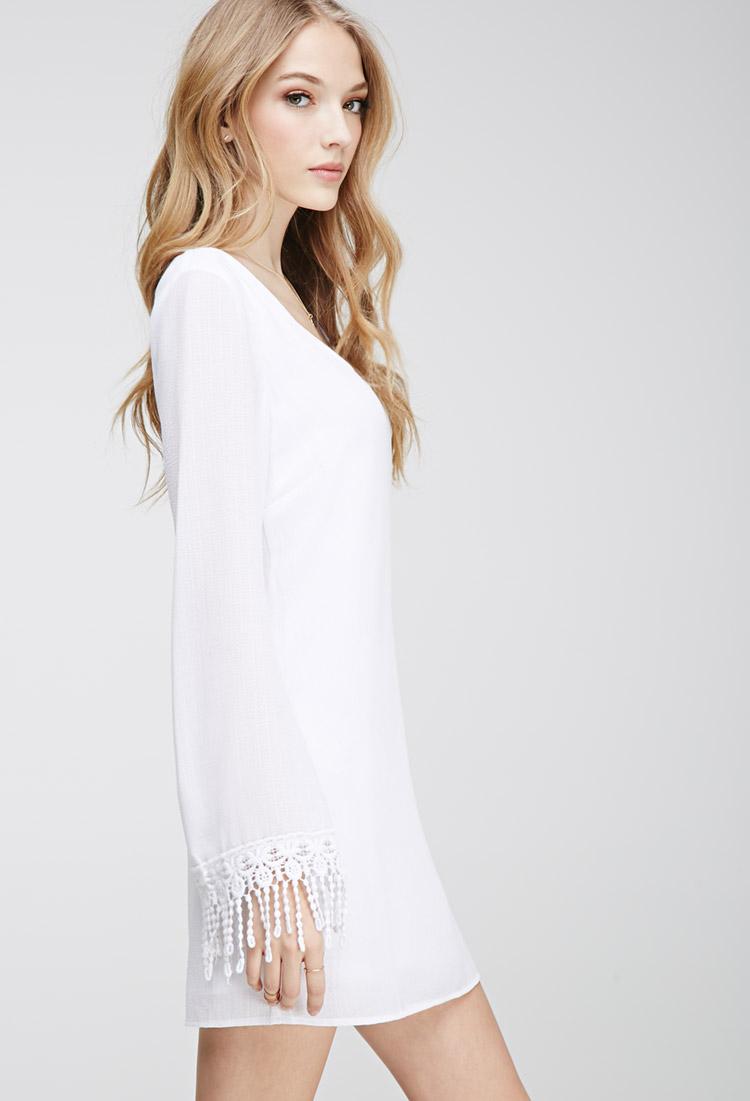 Simple white dress forever 21