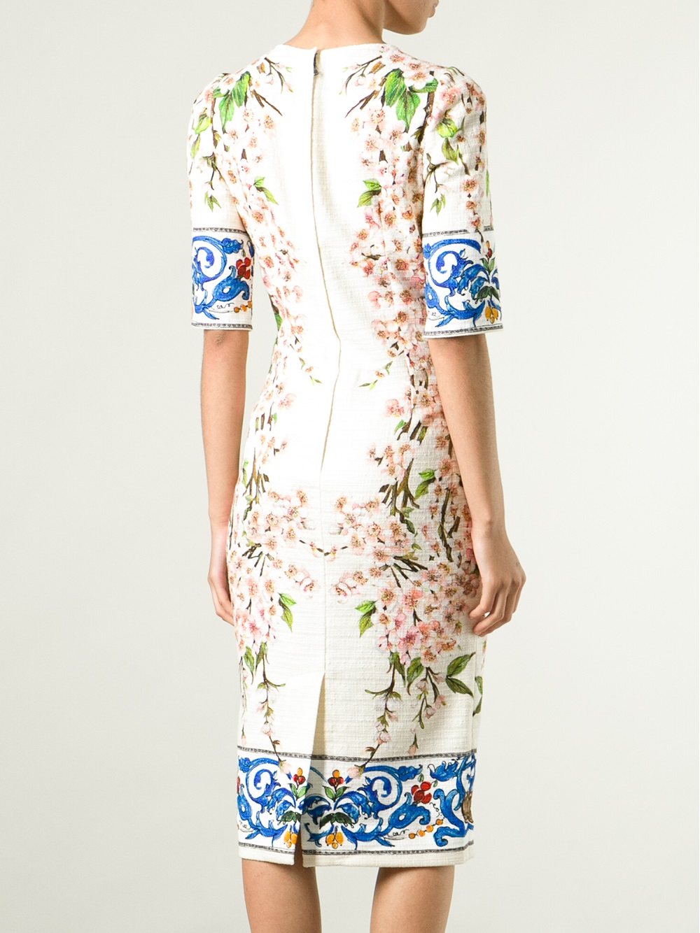 fitted floral dress - White Dolce & Gabbana Buy Cheap Best Wholesale Y3lefo4z