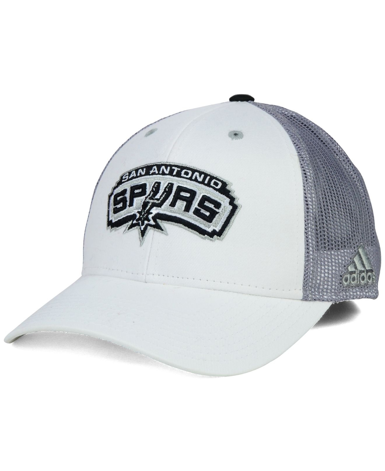 7164d8126a7c5 Lyst - adidas San Antonio Spurs Back Screen Mesh Cap in White for Men