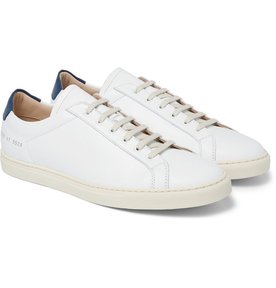 common projects achilles leather low top sneakers in white for men lyst. Black Bedroom Furniture Sets. Home Design Ideas