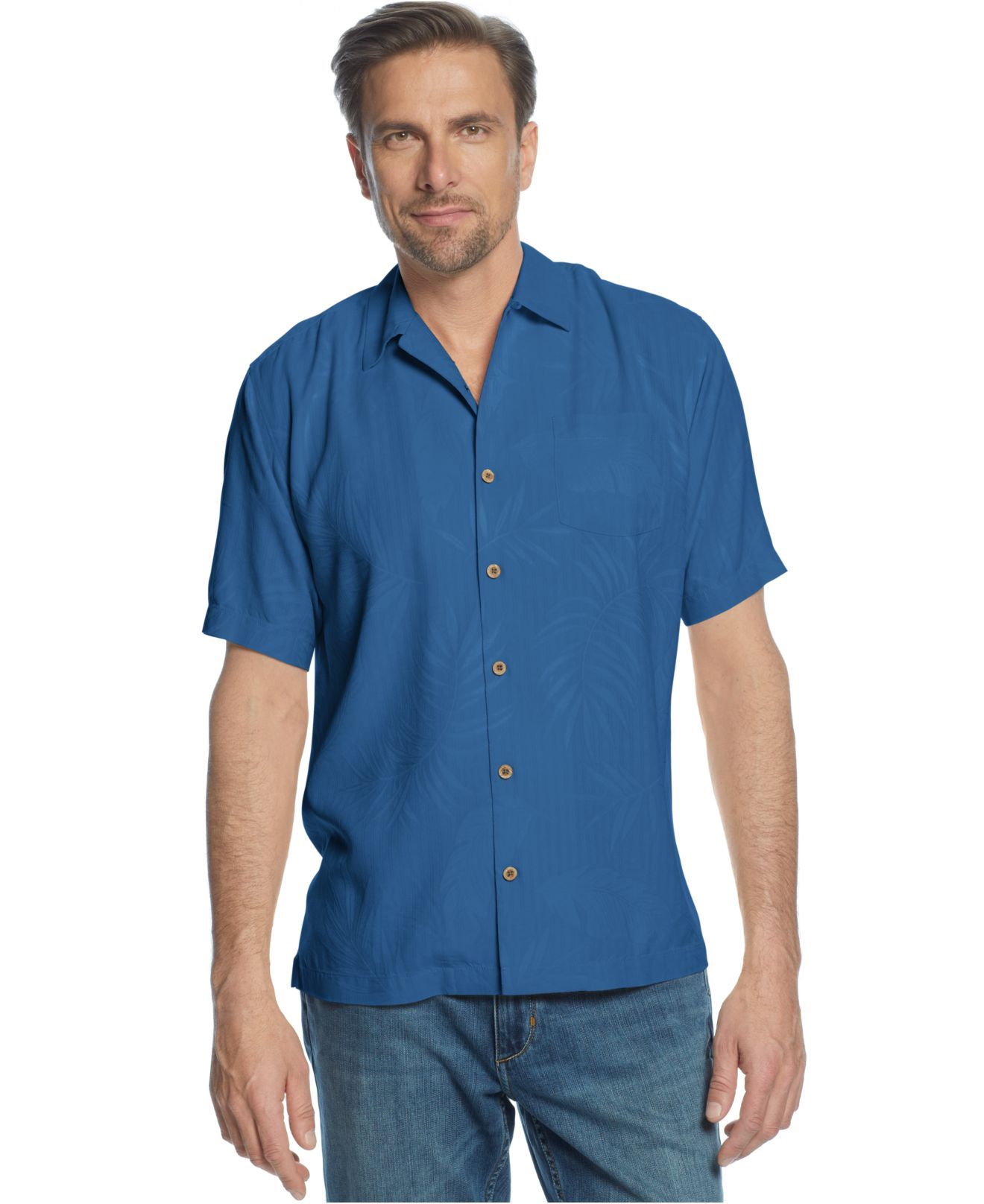 Lyst Tommy Bahama Big And Tall Tiki Palms Silk Shirt In