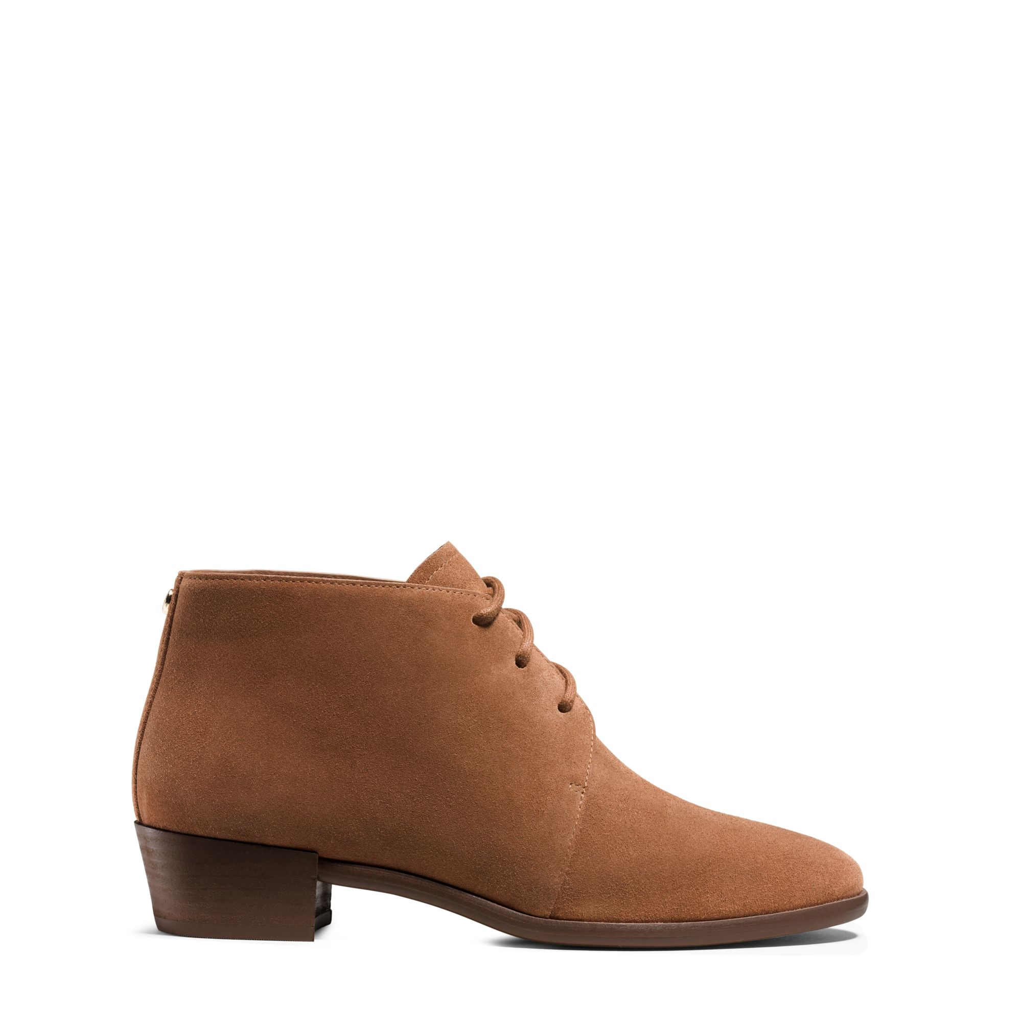 michael kors suede ankle boot in brown lyst