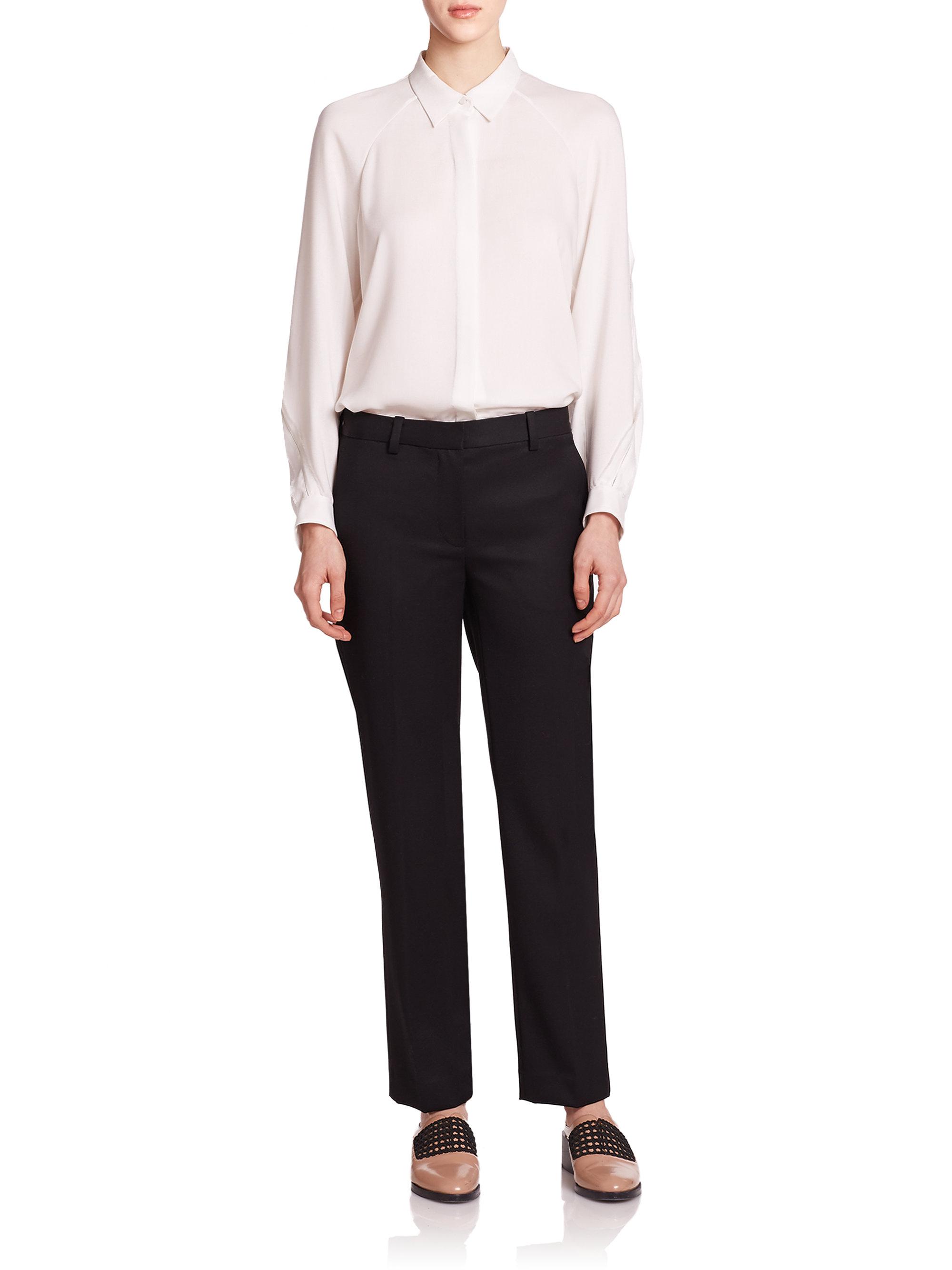 3.1 phillip lim Wool Pencil Pants in Black   Lyst