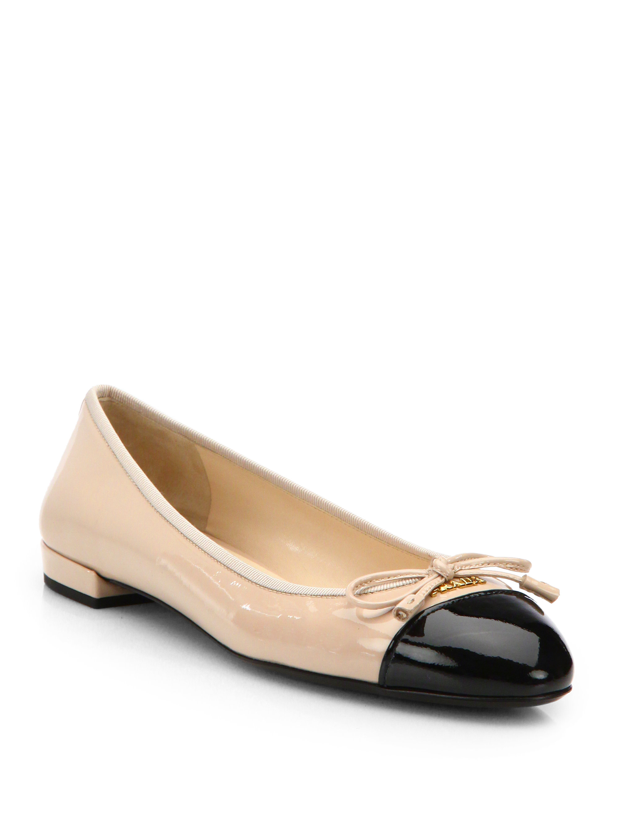 Prada Leather ballerina shoes