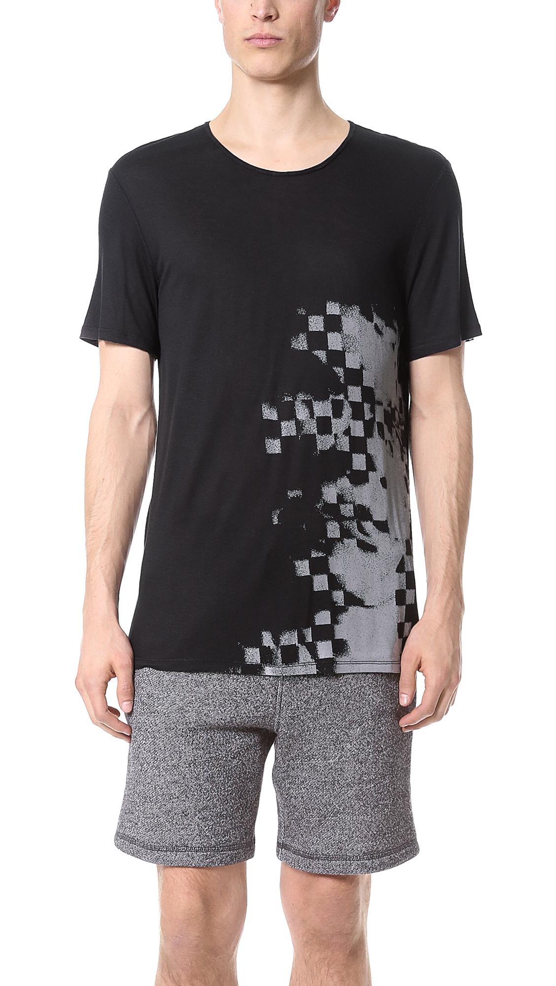 Lyst Alexander Wang Short Sleeve Tshirt In Black For Men