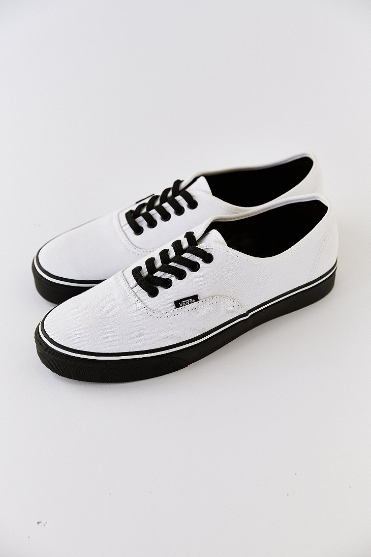 Lyst - Vans Authentic Black Sole Men S Sneaker in White for Men cbcbac893dcc