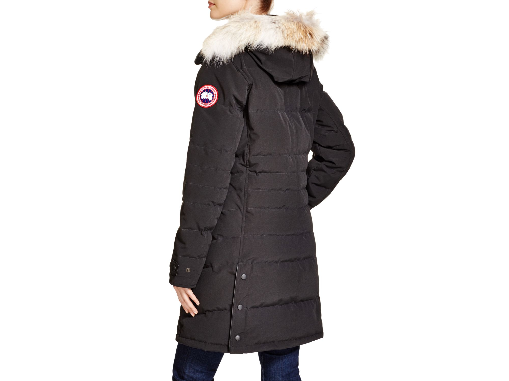 Canada Goose hats online cheap - Canada goose Lorette Coyote Fur Trim Down Coat in Black | Lyst