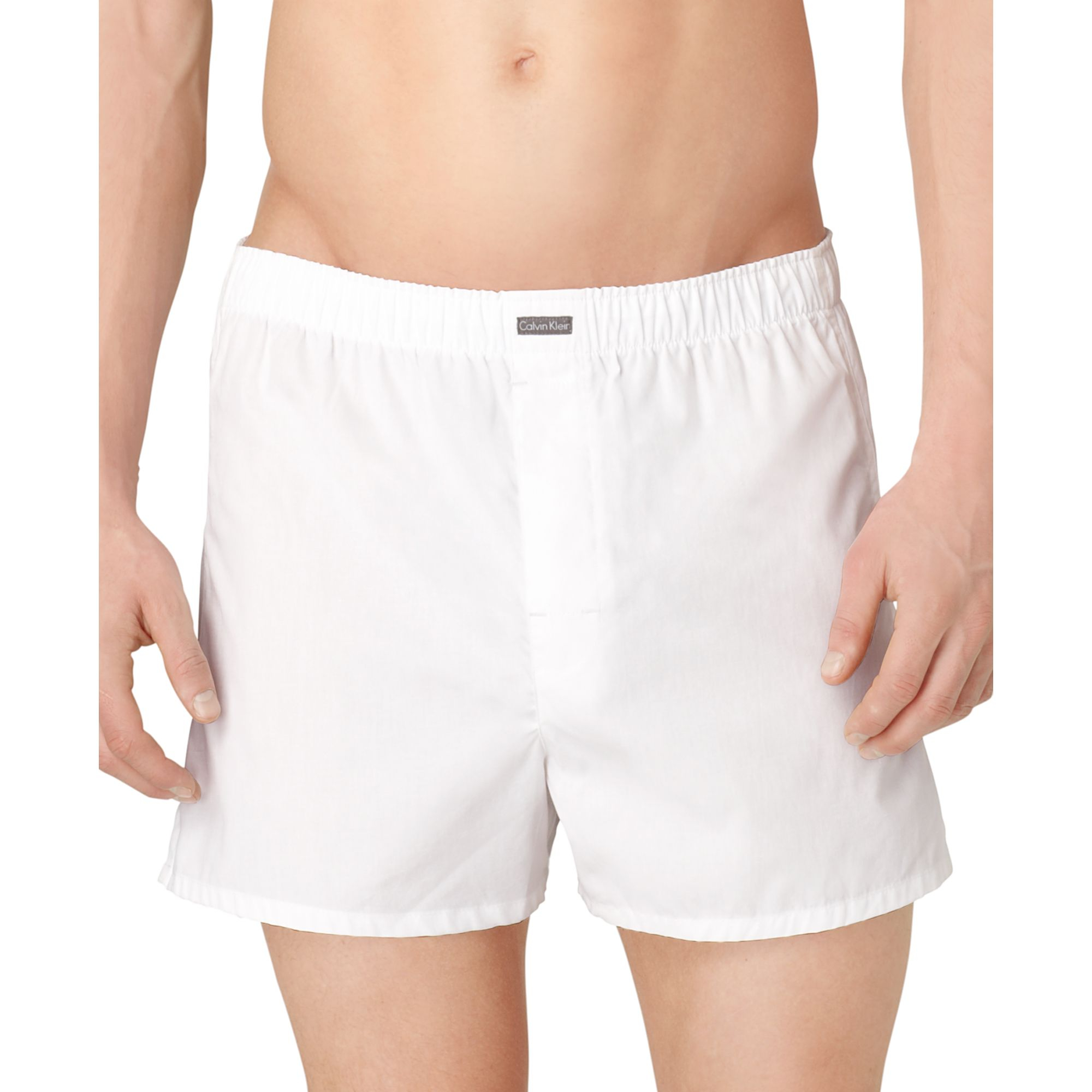 calvin klein men s classic boxers 3 pack in white for men stripe dark
