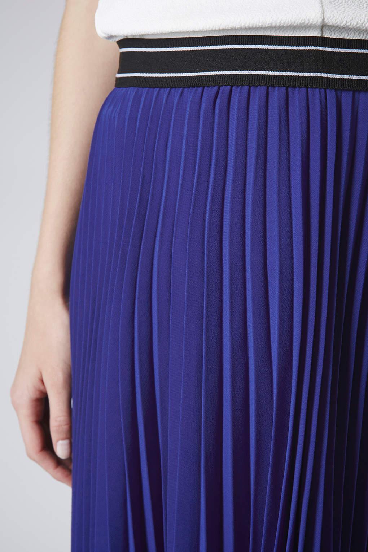 topshop maternity sport waistband pleated midi skirt in
