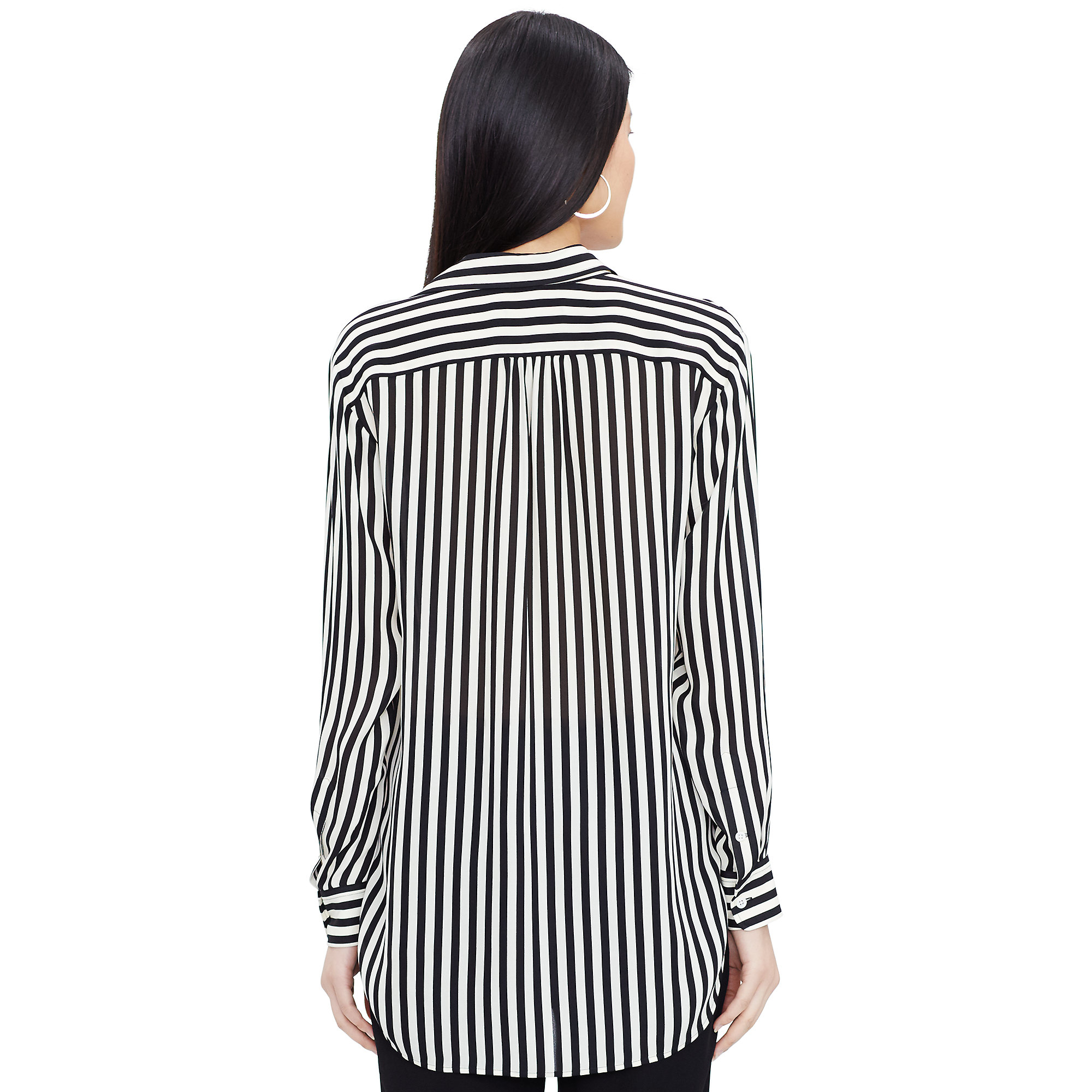 2cad24837 Polo Ralph Lauren Striped Silk Button-down Shirt in Black - Lyst