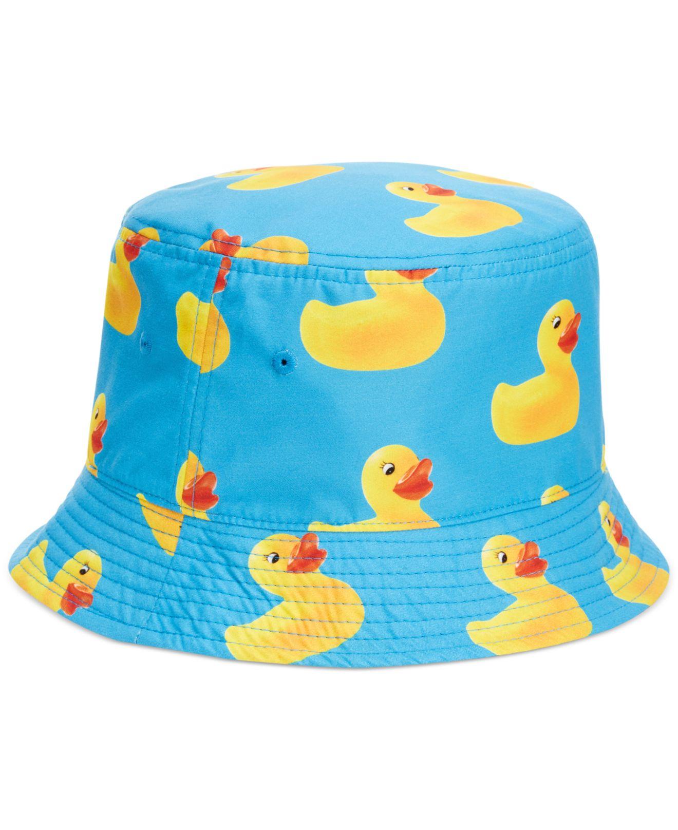 7aca2cd1b78 ... cheap lyst neff ducky reversible bucket hat in blue for men 5b229 3354b