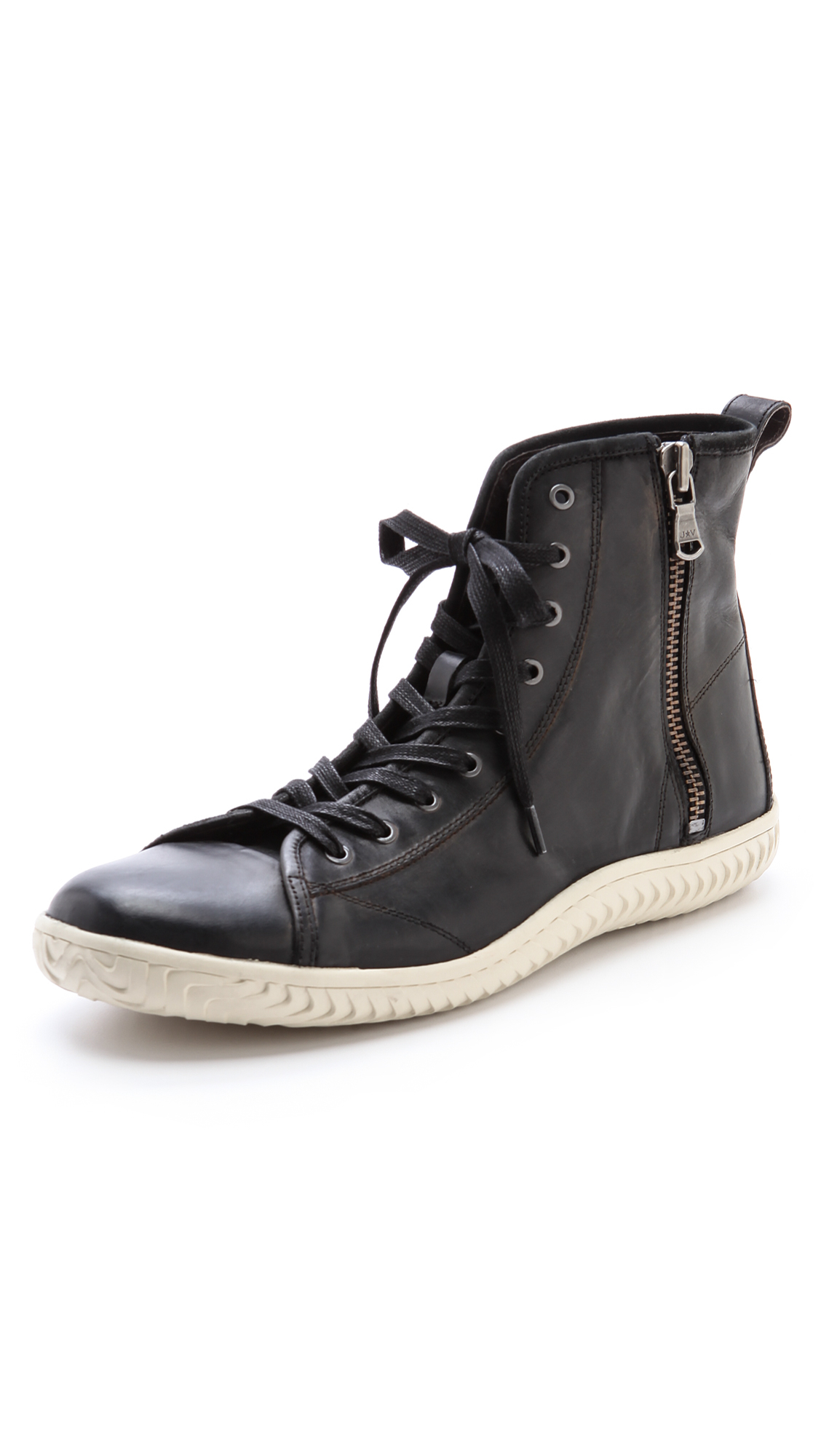 Lyst John Varvatos Hattan High Top Sneakers In Black For Men
