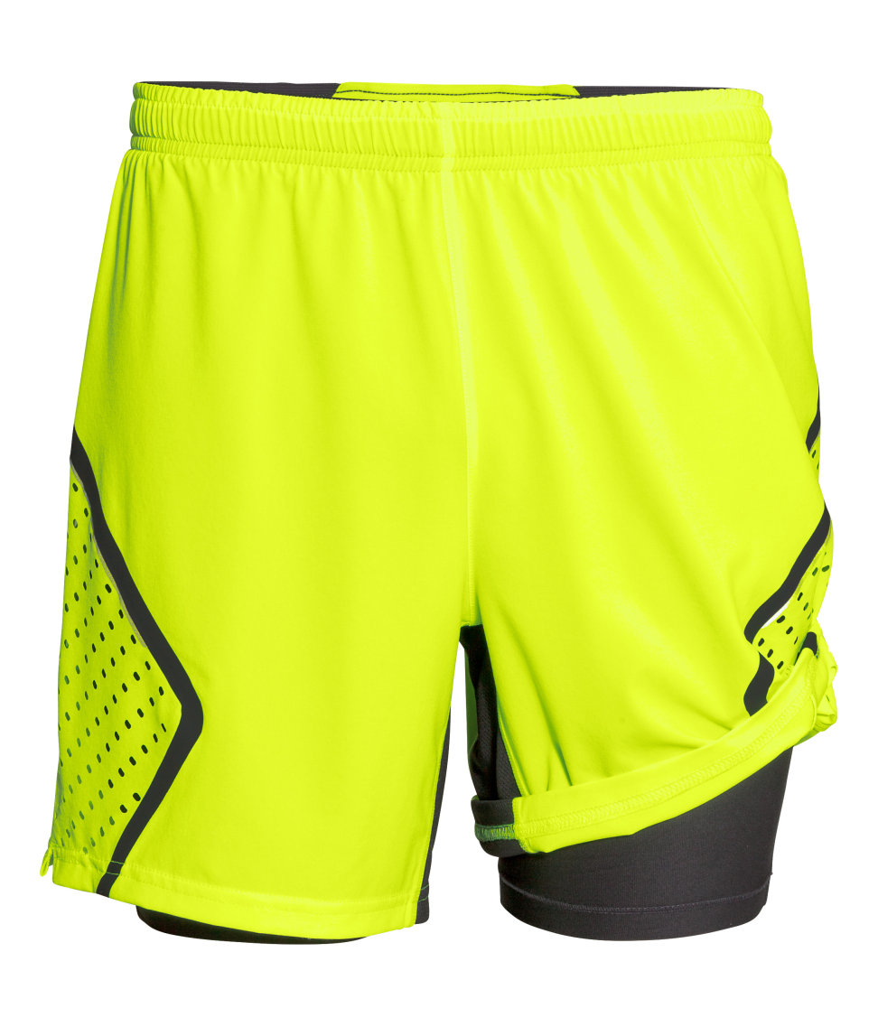 Lyst H Amp M Running Shorts In Yellow For Men