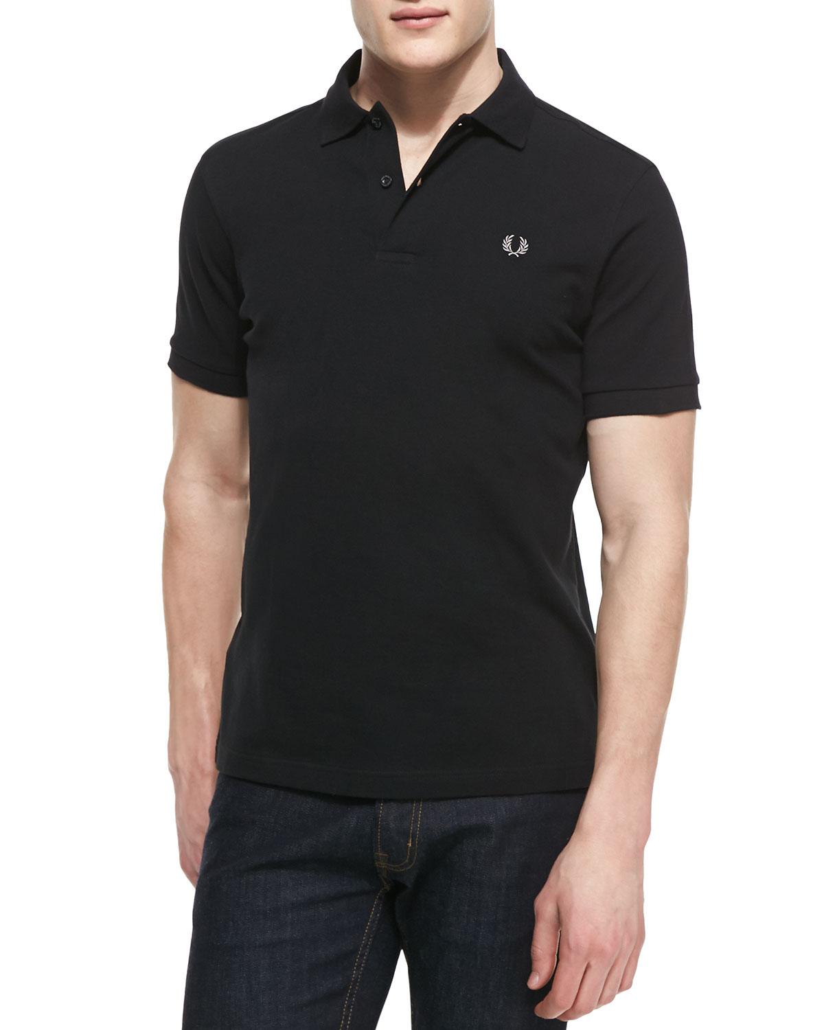 Fred Perry Shortsleeve Polo Shirt Black in Black for Men ...