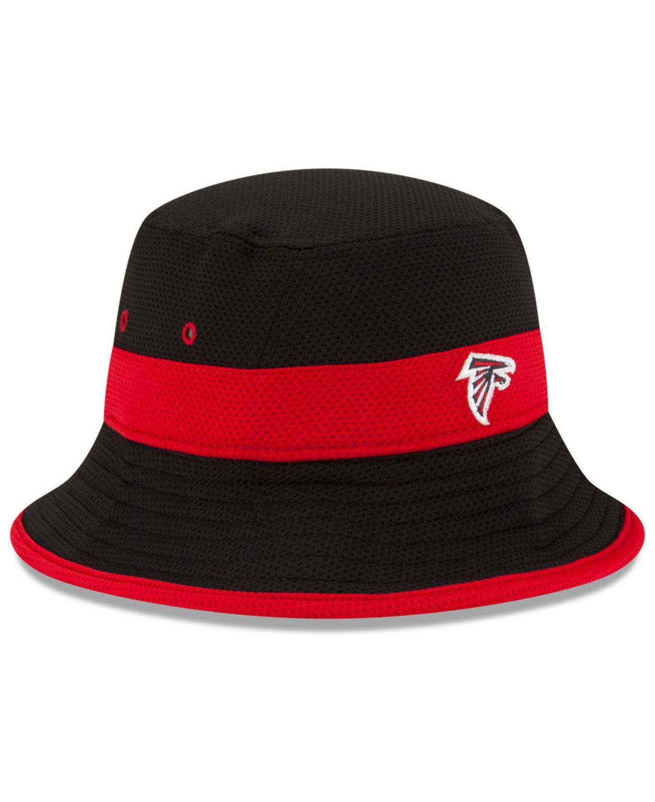 ef07e539289 Lyst - Ktz Atlanta Falcons Training Camp Reverse Bucket Hat in Black ...