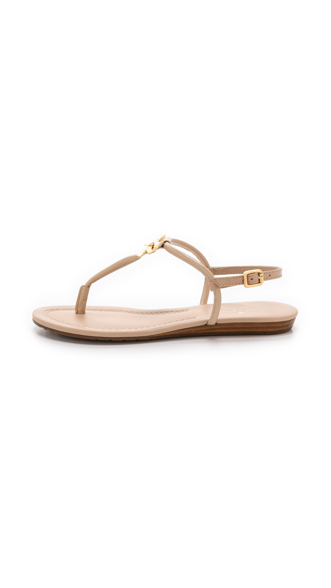 c6cb374b0ea Kate Spade Tracie Bow Thong Sandals in Natural - Lyst