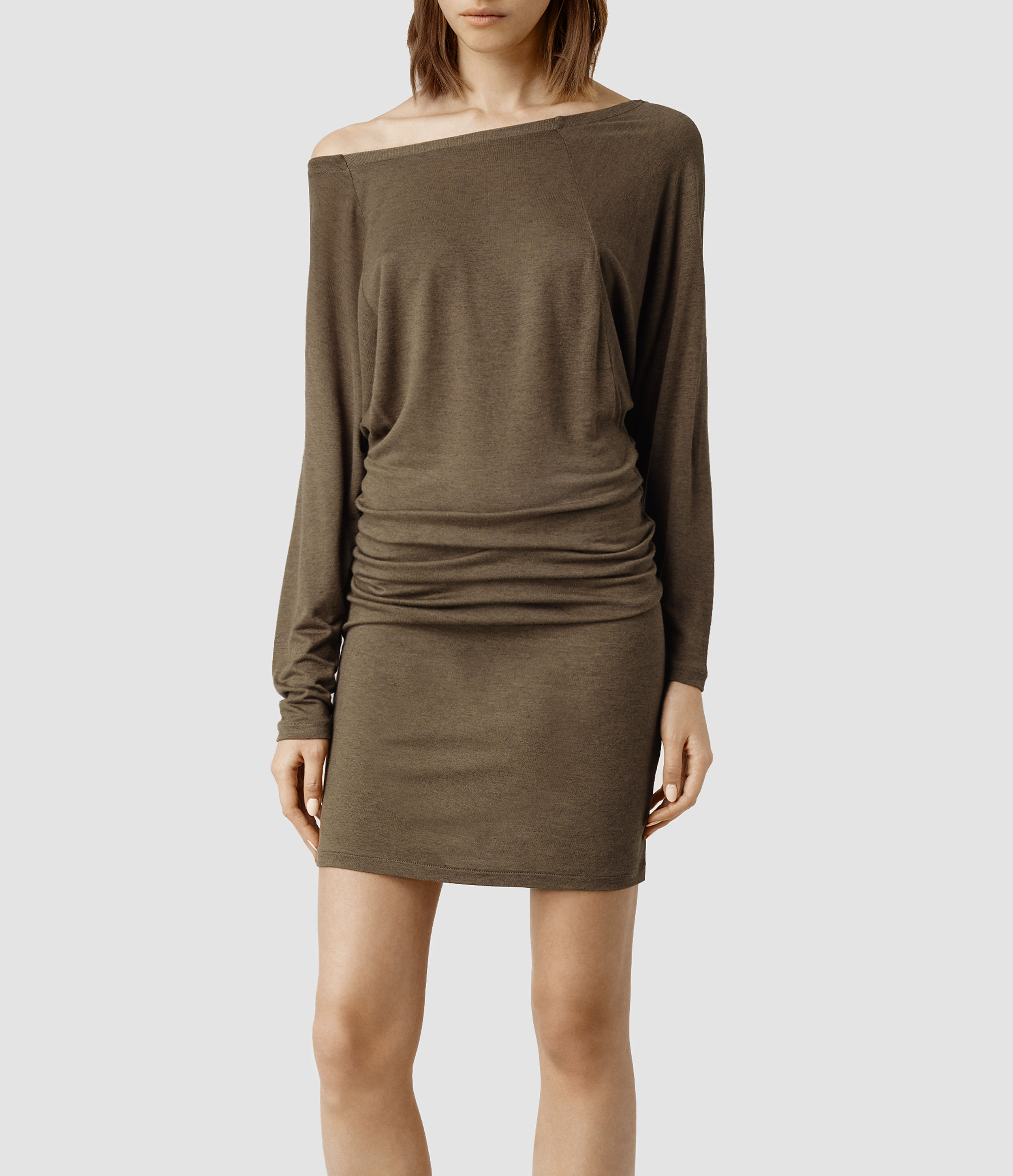 553f44c3b2 AllSaints Timi Dress in Brown - Lyst