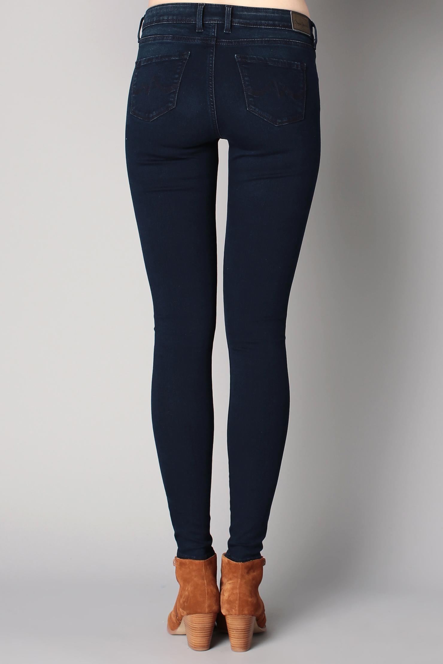 pepe jeans slim in blue lyst. Black Bedroom Furniture Sets. Home Design Ideas