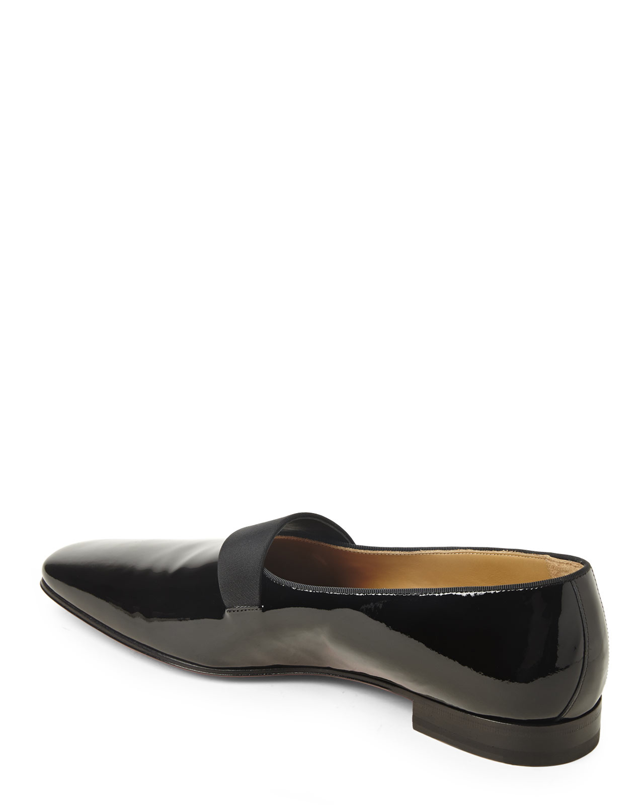 Christian louboutin Black Patent Smoker Flats in Black for Men | Lyst