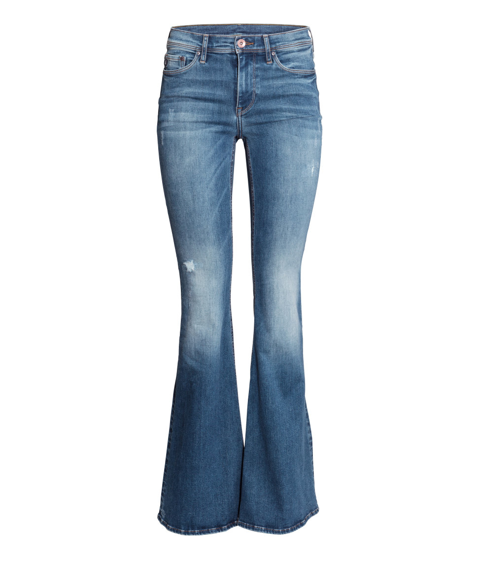 H Amp M Shaping Flare Regular Jeans In Blue Lyst