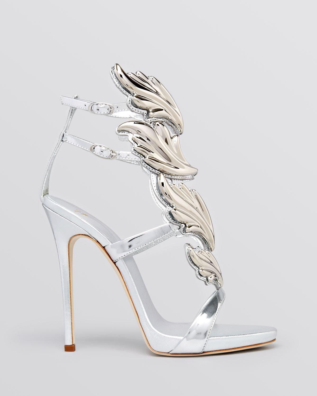 Open Toe Silver High Heels - Is Heel