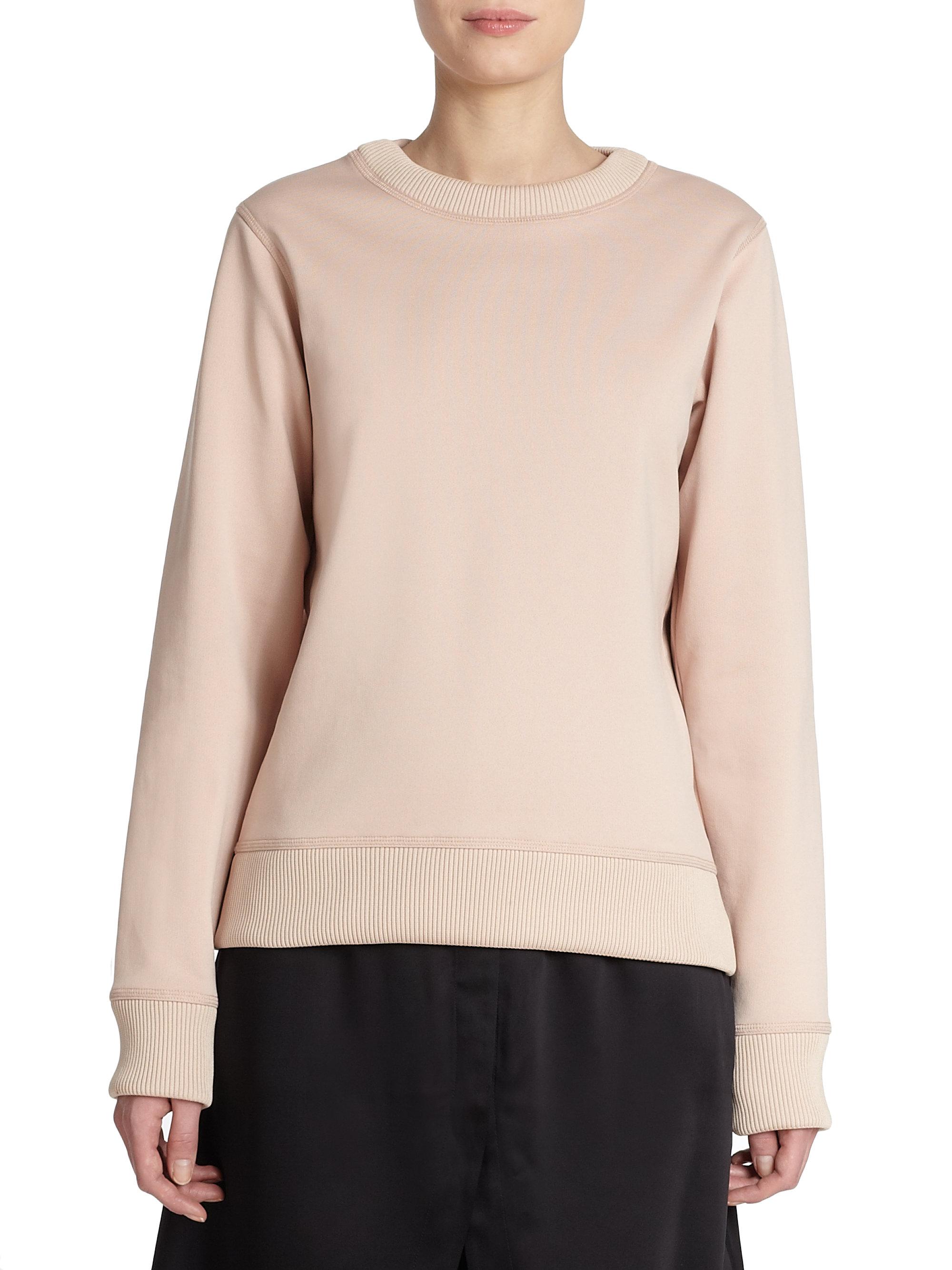 lyst acne studios vernina fleece sweatshirt in natural. Black Bedroom Furniture Sets. Home Design Ideas