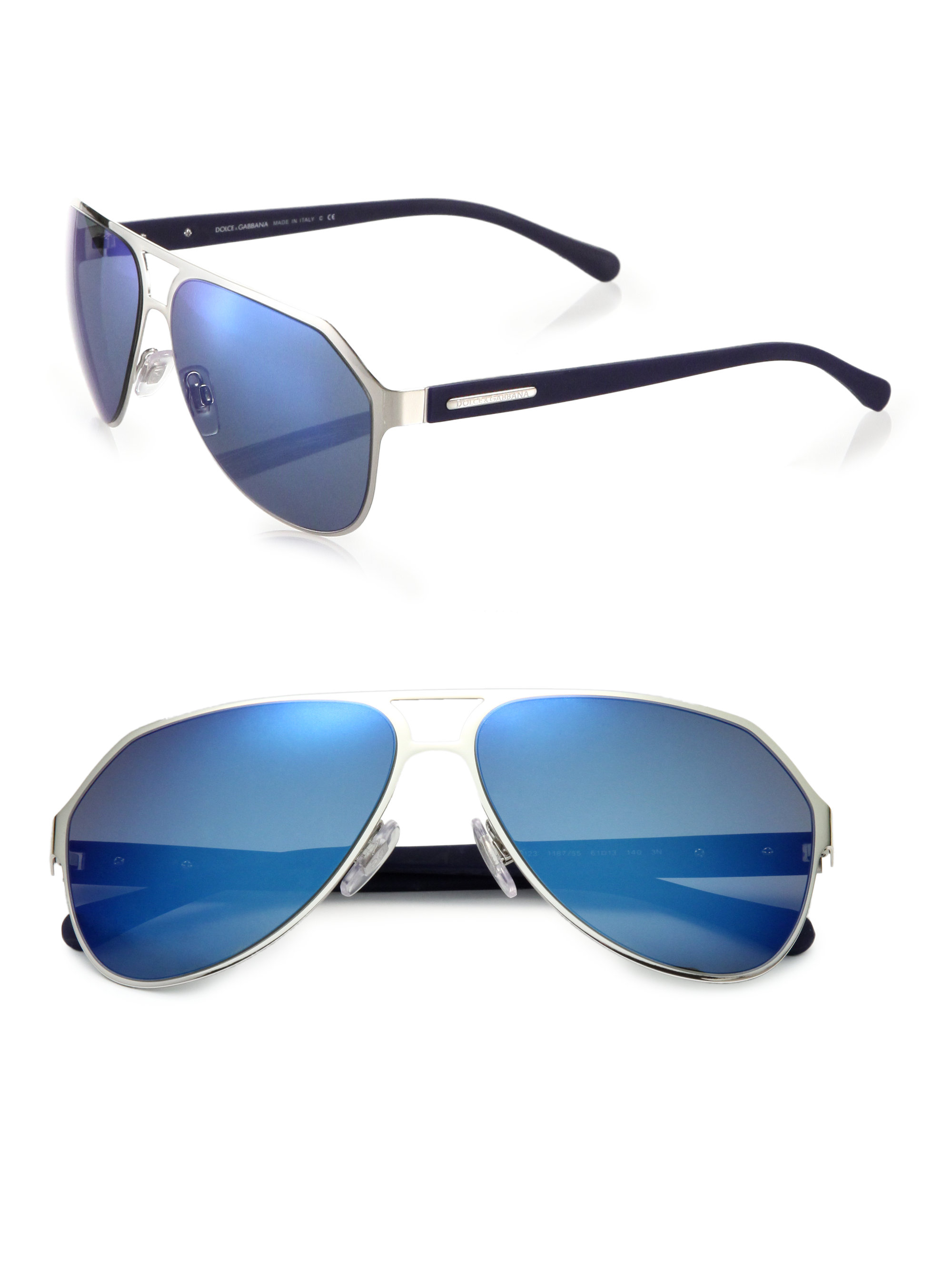 69f4559fb60 Dolce   gabbana Keyhole Aviator Sunglasses in Blue for Men