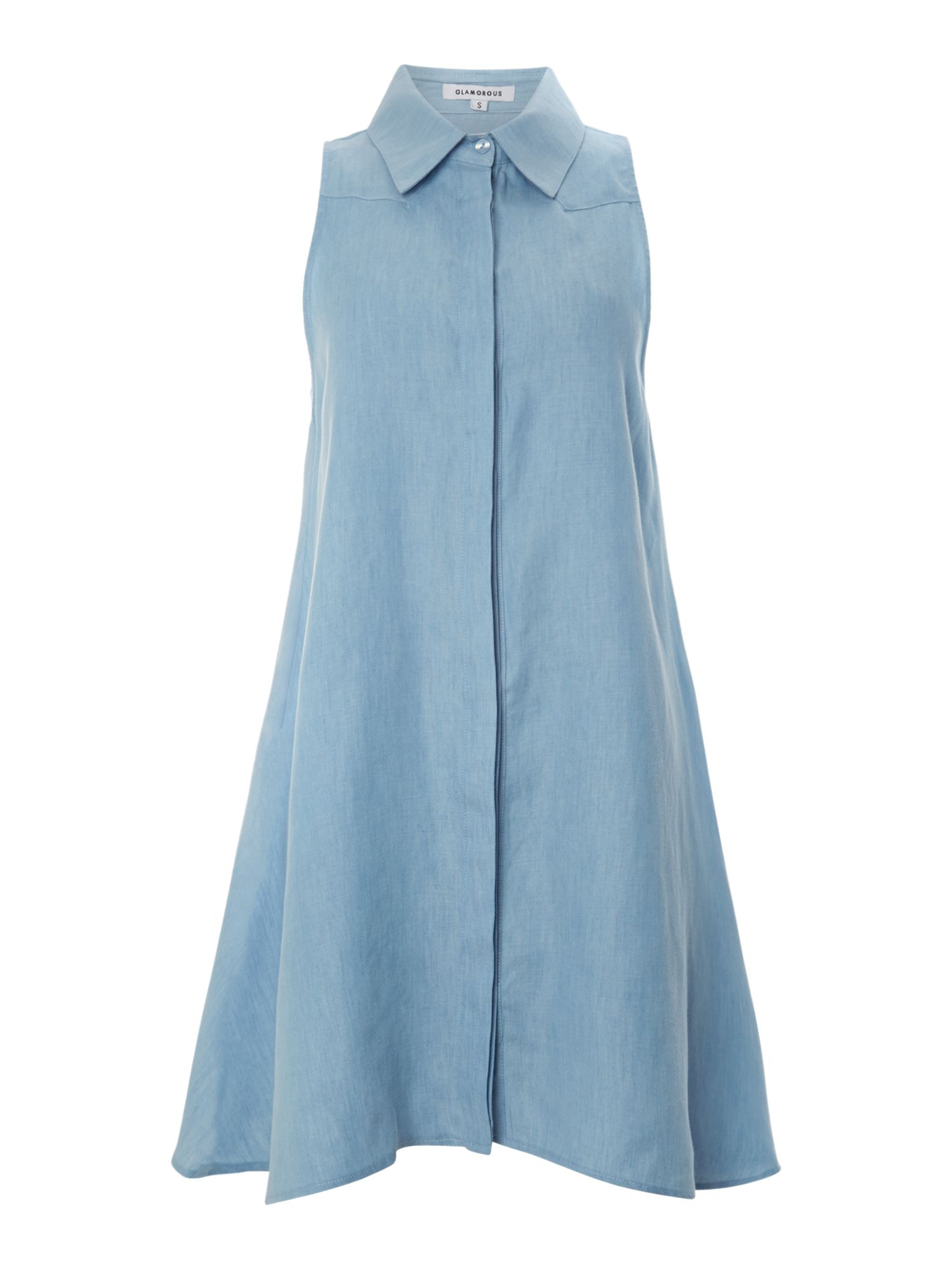 Excellent Womens Denim Button Through Pocket Sleeveless Dungaree Ladies Pinafore